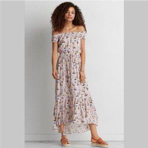 AEO Pink Floral Maxi Dress